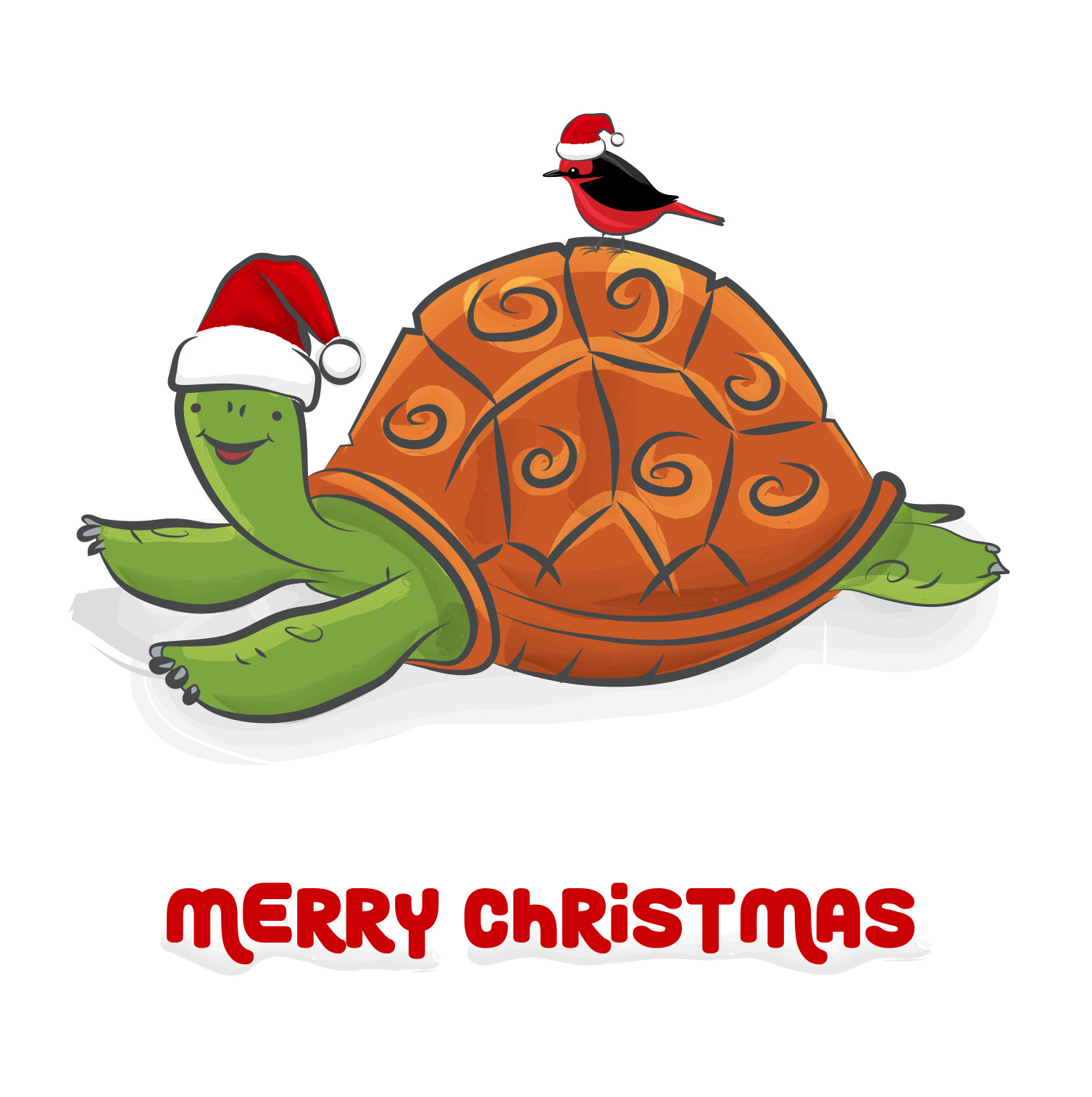 Tortoise Christmas card