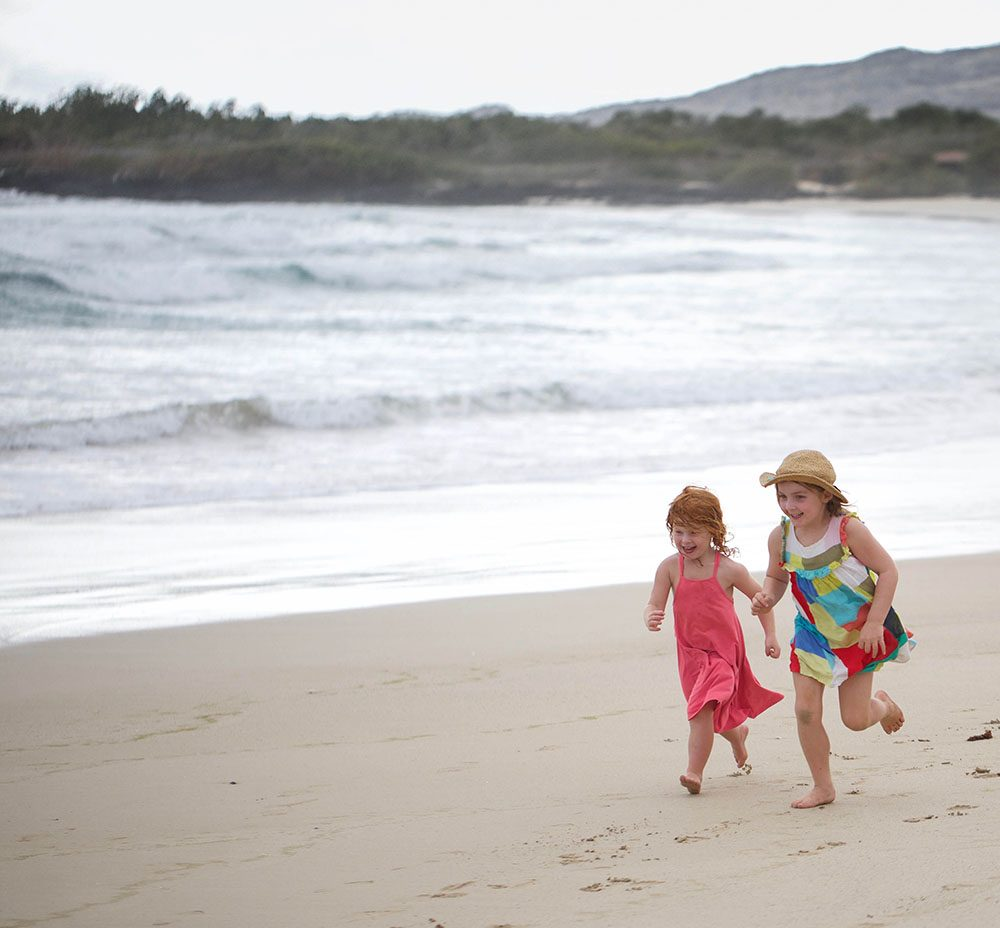 The girls loved the beaches © Seadog TV & Film Productions