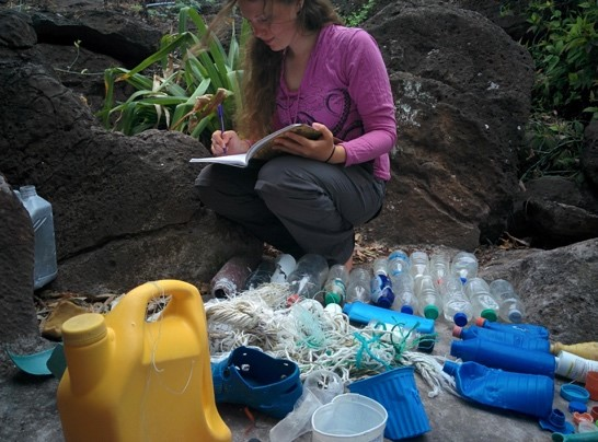 Jen Jones is GCT's project manager and a PhD student at the University of Exeter investigating the impacts of microplastics on the Galapagos marine foodweb © GCT