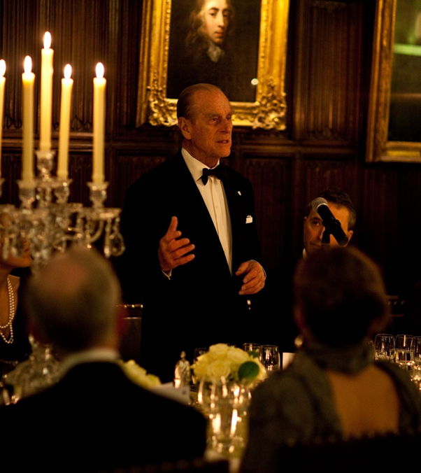 Prince Philip speaking at a dinner to celebrate Darwin's 200th birthday