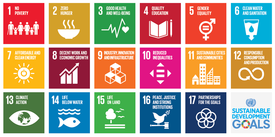 A image listing the 17 United Nations Sustainable Development Goals